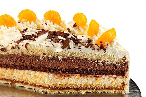Zink Backerei Konditorei Schoko Mandarinen Sahne Torte